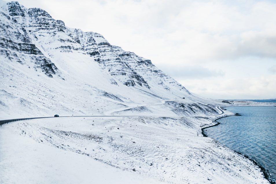 Road trip en Islande en hiver - Fjord Hvalfjordur