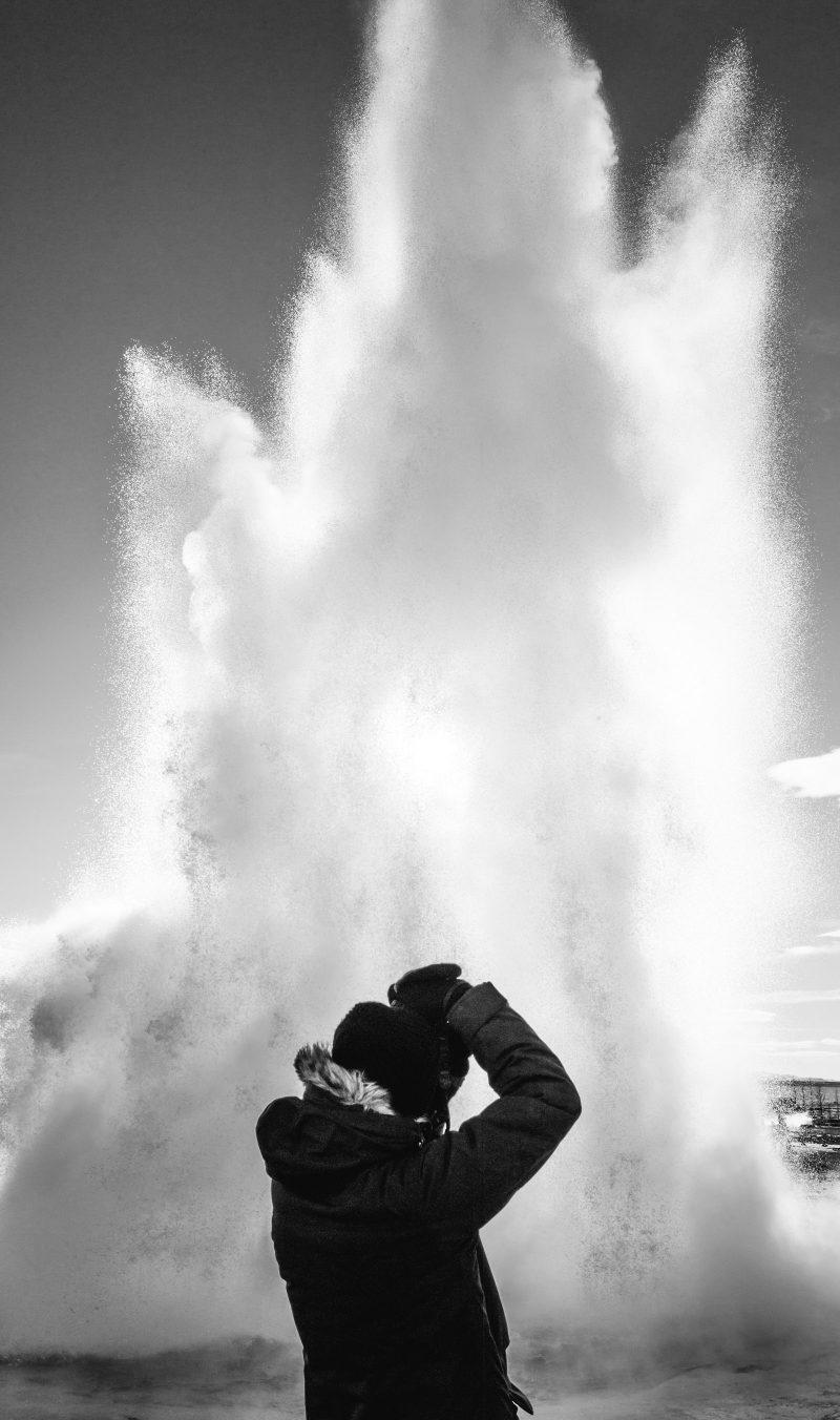 Road trip en Islande en hiver - Cercle d'or - Geyser Geysir Strokkur - Cercle-d'or