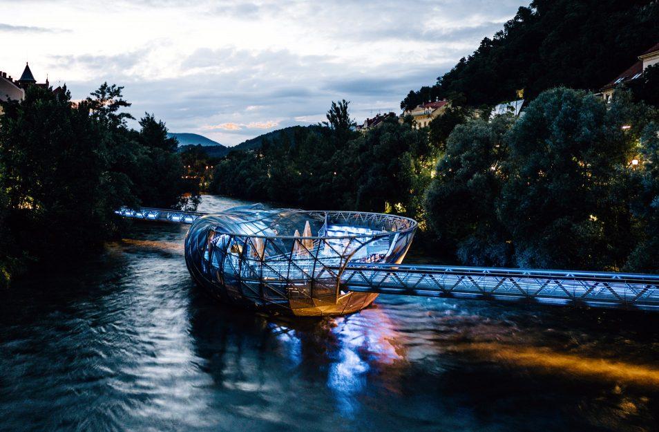 Visiter l'Autriche - Graz Murinsel