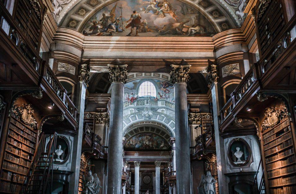 Visiter Vienne : la Bibliotheque Nationale d'Autriche