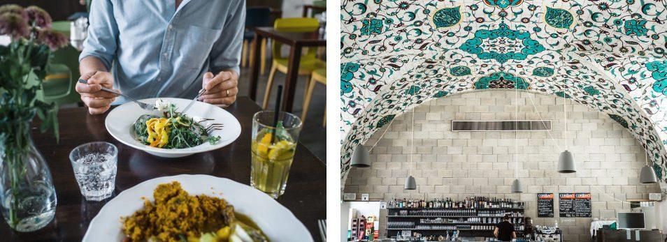 Visiter Vienne : restaurant dans le Museum Quarter, le Corbaci