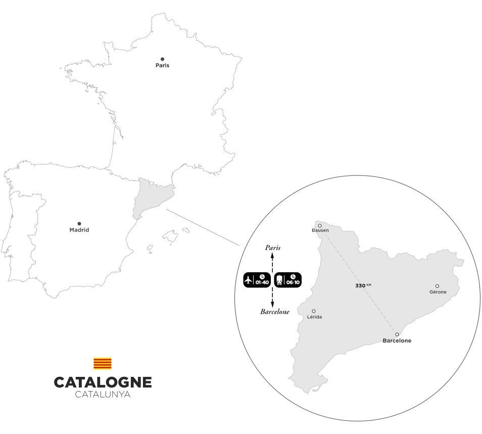 Carte Catalogne - Espagne