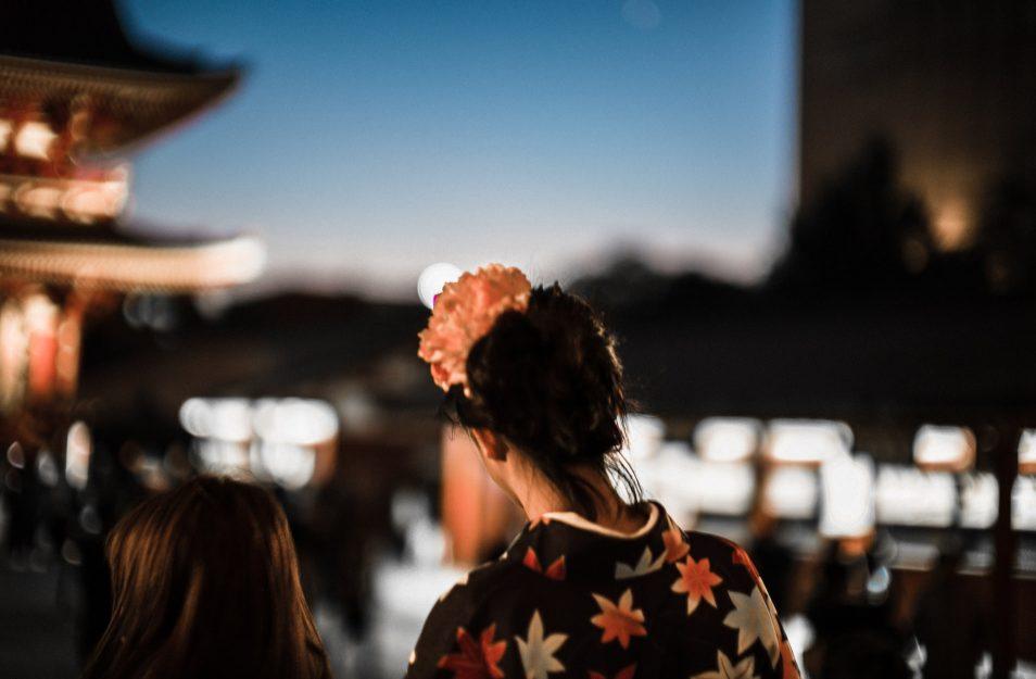 Visiter Tokyo - Jeune fille en kimono