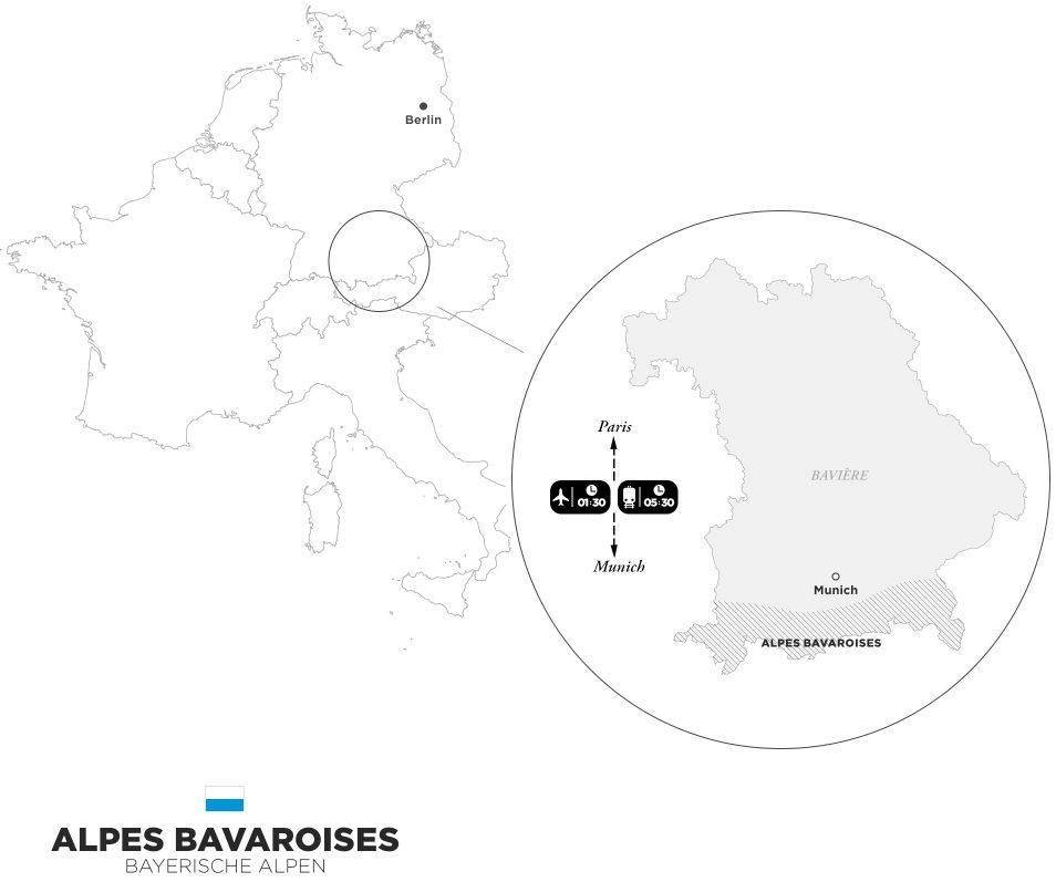 Road trip dans les Alpes Bavaroises - Carte
