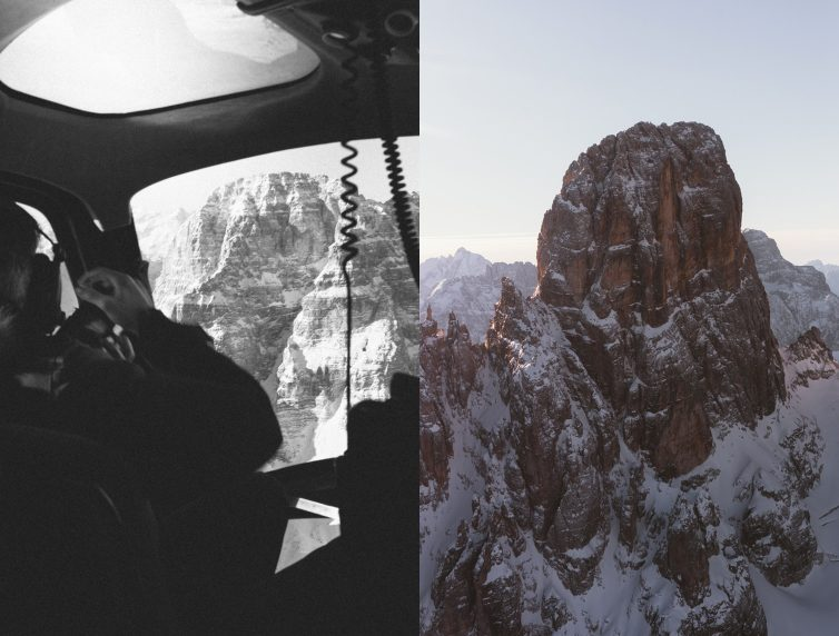 Dolomites Road Trip Italie Vol Helicoptere Cabine