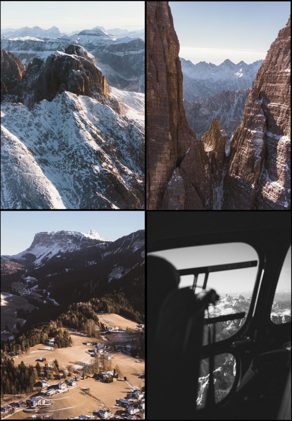 Dolomites Road Trip Italie Vol Helicoptere Composition